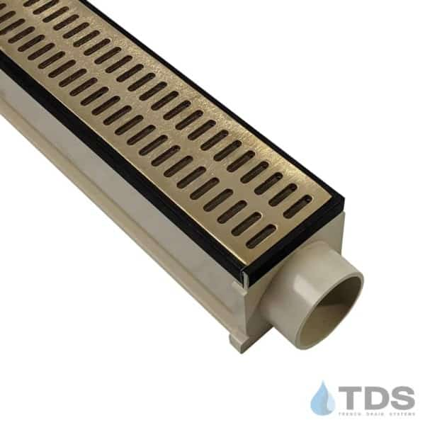MAX Mini with Oil Rubbed Veneer Edging with Brushed Bronze Slotted Grate