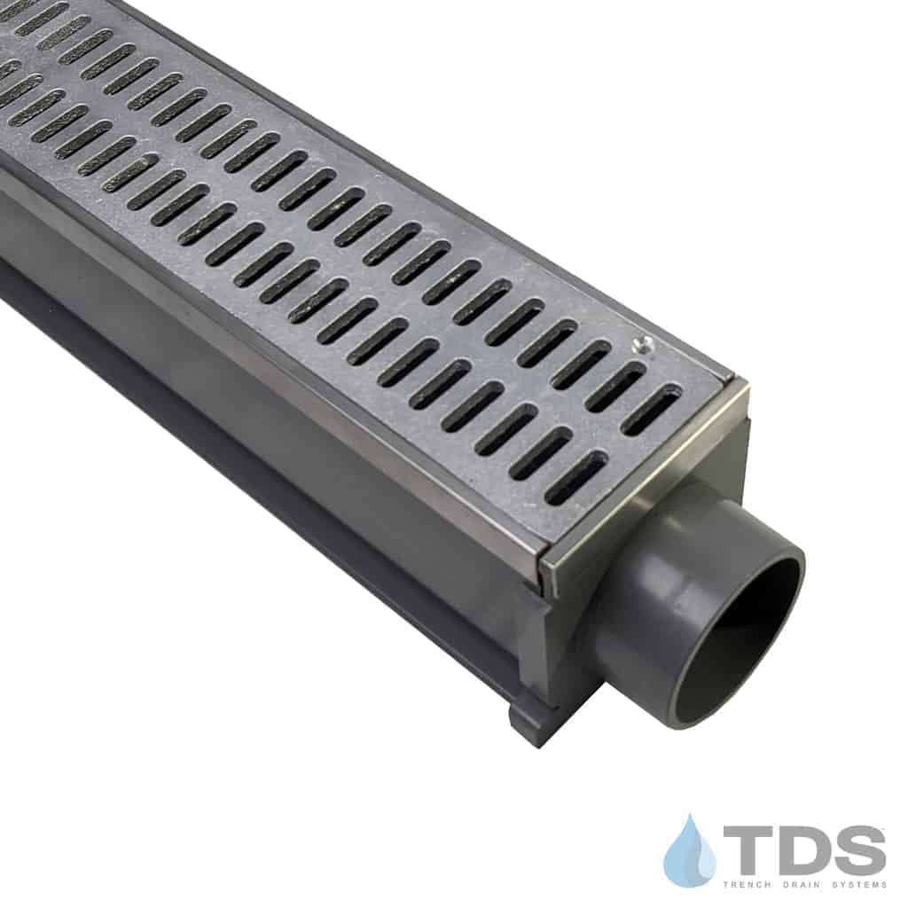 MAX Mini with Stainless Steel Edging with Aluminum Slotted Grate