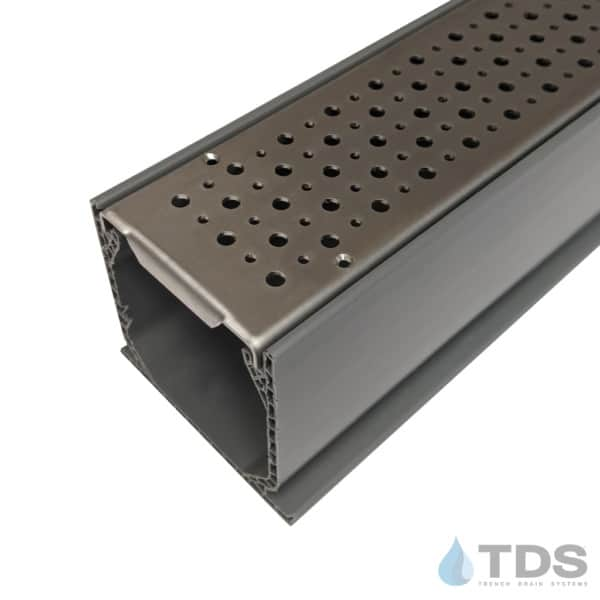 MCK-BA-FOAM-0336 Grey NDS Mini Channel with Stainless Steel Perforated Foam Grate