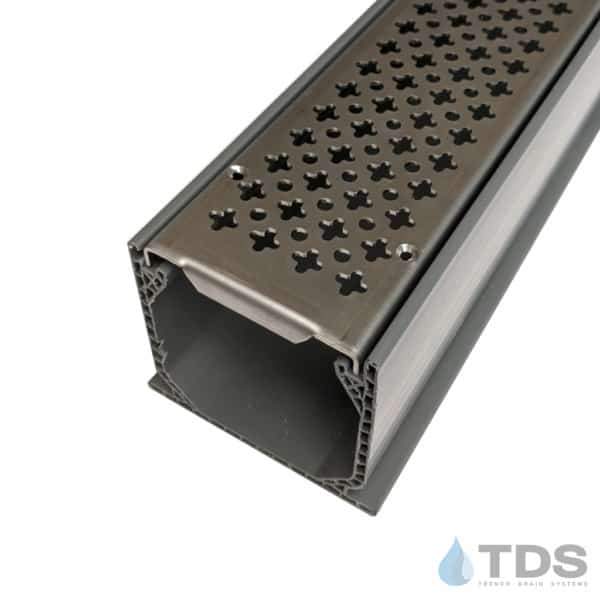 MCK-BA-cath-0336 Grey NDS Mini Channel with Stainless Steel Cathedral Grate