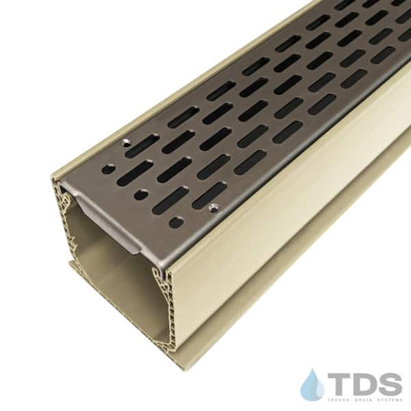 MCKS-BA-SLOT-0336 Sand Mini Channel with Transverse Slotted Stainless Steel Grates