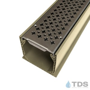 MCKS-BA-cath-0336 Sand Mini Channel with Cathedral Stainless Steel Grates
