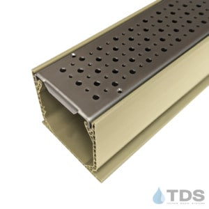 MCKs-BA-FOAM-0336 Sand Mini Channel with Perforated Foam Stainless Steel Grates
