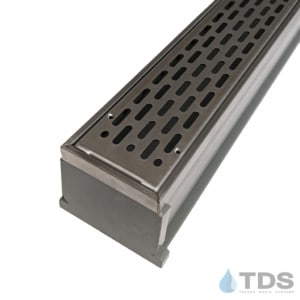 MMG-SS-SLOT MAX Mini kit with gray channel and stainless steel grate