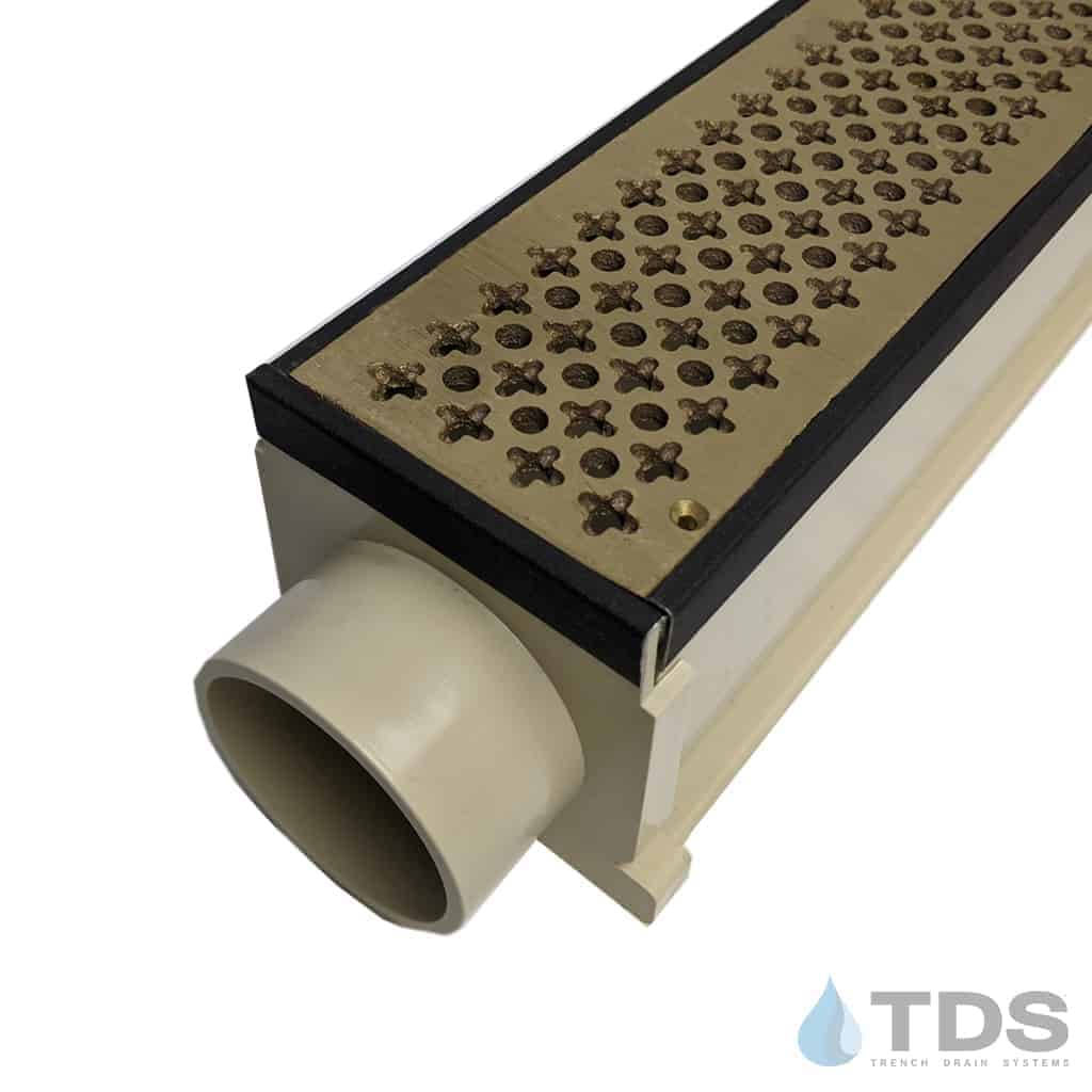 MAX Mini Cathedral Brushed Bronze Grates and Oil Rubbed Edging