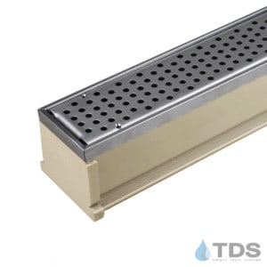 MMS-SS-PERF MAX Mini with perforated grate - sand channel