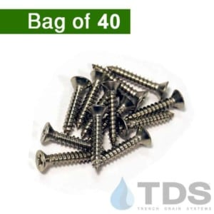 NDS846 Mini Channel Screws for Decorative Wave and Botanical Plastic Grates